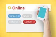 Blog online kontaktieren Digital-Gemeinschaftswerbekonzeption Stockbilder