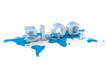 Blog op wereld Royalty-vrije Stock Afbeeldingen