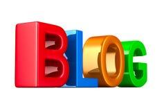 Blog op witte achtergrond Geïsoleerde 3d illustratie Royalty-vrije Stock Fotografie