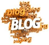 Blog orange Stock Image