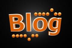 Blog with orange balls Royalty Free Stock Images