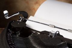 Blog page. Antique typewriter with an empty page and the word BLOG royalty free stock photo