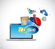 Blog phone media tools illustration design Royalty Free Stock Photos