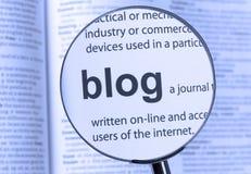 Blog podkreślający zdjęcie stock