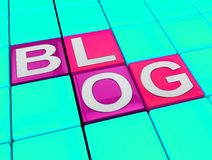 Blog Pokazuje Ogólnospołeczną Medialną wiadomości 3d ilustrację ilustracja wektor