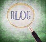 Blog powiększa ilustracja wektor