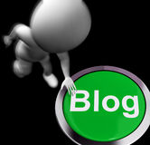 Blog Pressed Means Information Or Expressing Thoughts Online Stock Images