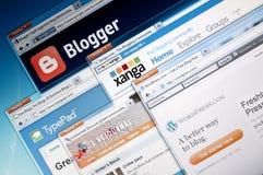 Blog-publicerende websites Royalty-vrije Stock Fotografie