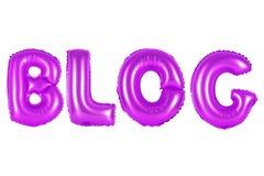 Blog, purpurrote Farbe Stockfotografie