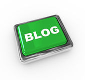 Blog push button. 3d chrome push button with text 'blog Stock Image
