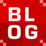 Blog Red Four Blocks Royalty Free Stock Image