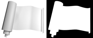 Blog roll of white paper on a dark background Stock Photo