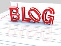 Blog rosso Fotografie Stock Libere da Diritti