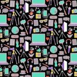 Blog Seamless Pattern Royalty Free Stock Photo