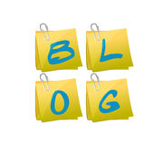 Blog set of posts illustration design Stock Photography