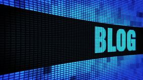 Blog Side Text Scrolling LED Wall Pannel Display Sign Board
