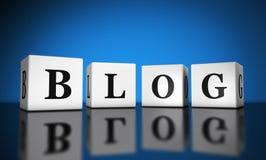 Blog sieci sztandar Obrazy Stock