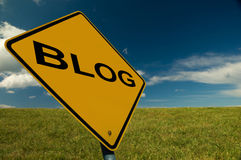 Blog Sign Stock Photography