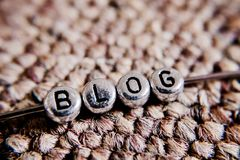 Blog silver letters Royalty Free Stock Image