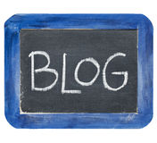 Blog on slate blackboard Royalty Free Stock Photos