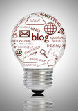 Blog sociaal media concept Stock Afbeelding