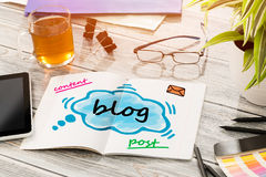 Blog Social Media Communication Content Concept Royalty Free Stock Photo