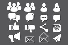 Blog and Social Media icons Stock Photo