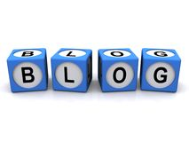 Blog spelled in cubes Royalty Free Stock Photography