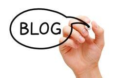 Blog-Sprache-Blase Lizenzfreies Stockfoto