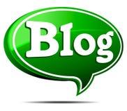 Blog-Sprache-Luftblase Lizenzfreies Stockfoto