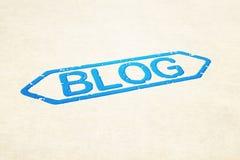 Blog Stamp. Blue Ink Blog Stamp image Stock Photography