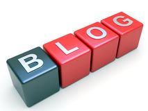 Blog tag on red cubes Royalty Free Stock Image
