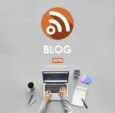 Blog-Technologie-Internetanschluss-Konzept Lizenzfreie Stockfotografie
