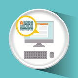 Blog and technology. Graphic design, vector illustration eps10 Stock Images
