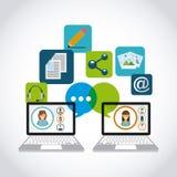 Blog template design Stock Image