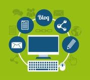 Blog template design Stock Photos