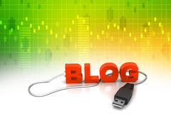 Blog text connect with mouse Royalty Free Stock Photos