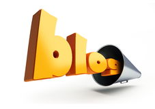 Blog text megaphone Stock Photography