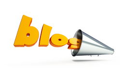 Blog text megaphone Royalty Free Stock Photography