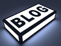 Blog text on shining block Royalty Free Stock Images