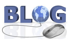 Blog to share personal information online Royalty Free Stock Image
