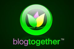 Blog Together Icon (Web 2.0). Icon designed for blogging or anything related to community or the gathering of people. The name is just the name I gave the icon Stock Photo