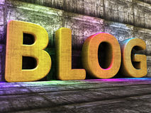 Blog Tools Means World Wide Web And Blogger Royalty Free Stock Image