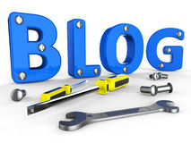 Blog Tools Represents World Wide Web And Blogger Royalty Free Stock Image