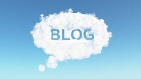 Blog a través de una nube Fotos de archivo libres de regalías