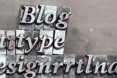 Blog, type Royalty Free Stock Photography