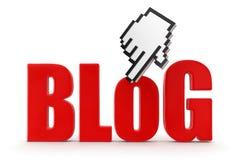 Blog und Cursor (Beschneidungspfad eingeschlossen) Stock Abbildung
