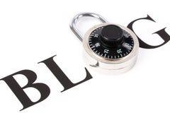 Blog und Verriegelung Stockbild