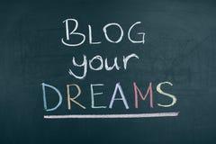 Blog Uw Dromenword Concepten Sociale Media Stock Fotografie