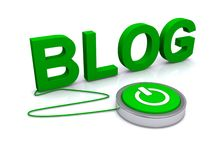 Blog vert Photo libre de droits